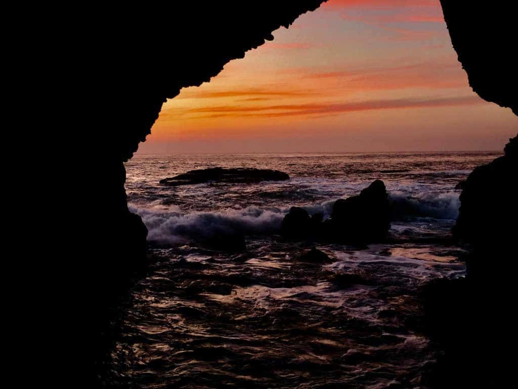 22 Spectacular Sunsets from Around the Globe-Dana Point Sea Cave
